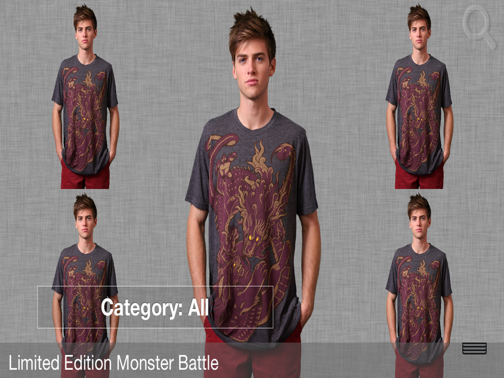 Men's T-Shirt Store App - screenshot