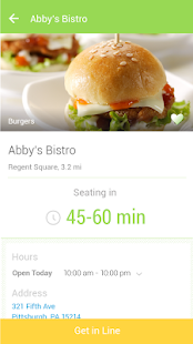 NoWait - Restaurant Wait Times - screenshot thumbnail