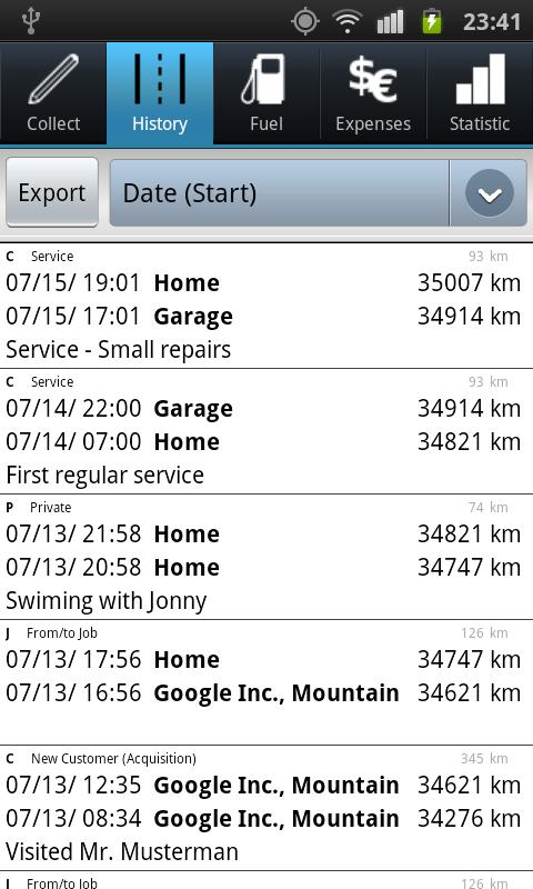 Driver's Log PRO (myLogbook) - screenshot