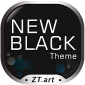 New Black GO Launcher EX Theme