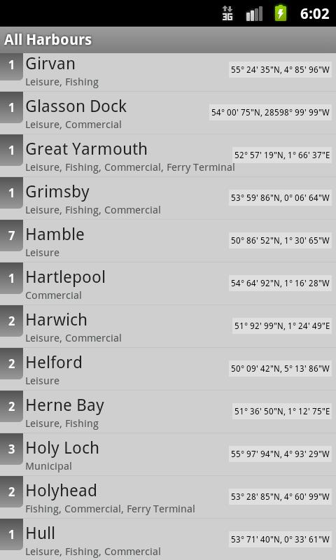 Harbours, Marinas & Quays UK- screenshot
