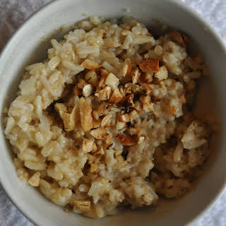 Sweet and Savory Oat and Brown Rice Porridge (Quick Version).