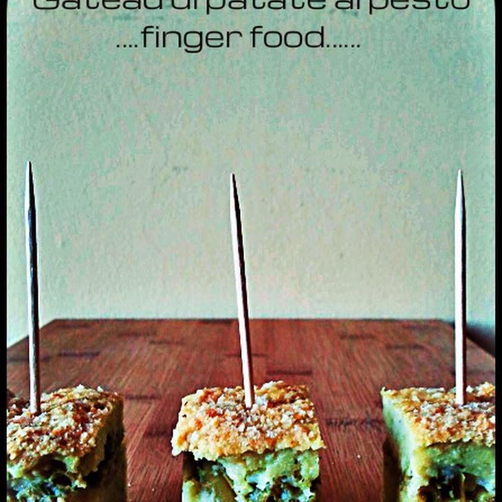 Pesto Potato Cake