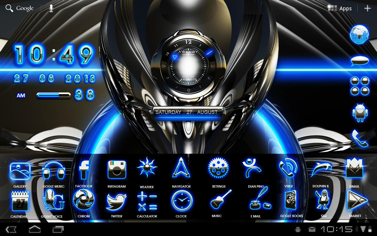 Download The 3D Glow Magic GO Theme Android Apps On