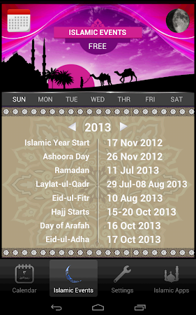 Islamic Calendar (Hijri) Free 1.4 screenshot 417439