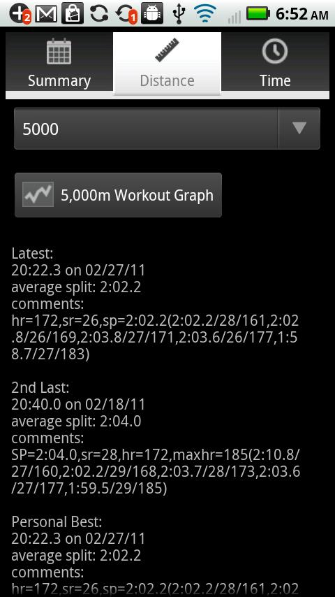 Erg Tracker - screenshot