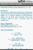 Screenshot of Statistics Quick Reference Pro