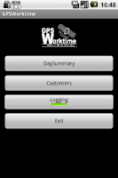 Screenshot of GPS Worktime
