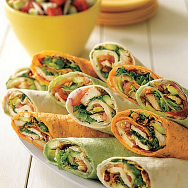 Tex-Mex Chicken Club Wraps Recipe