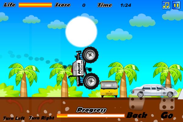 Police Monster Truck - screenshot