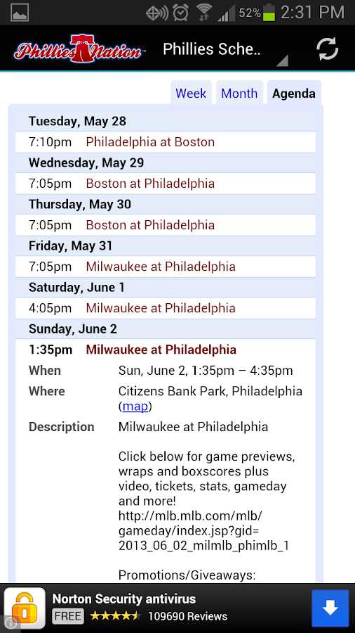 Phillies Nation - screenshot