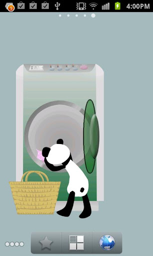 Panda washing Live Wallpaper 1.8 Windows u7528 4