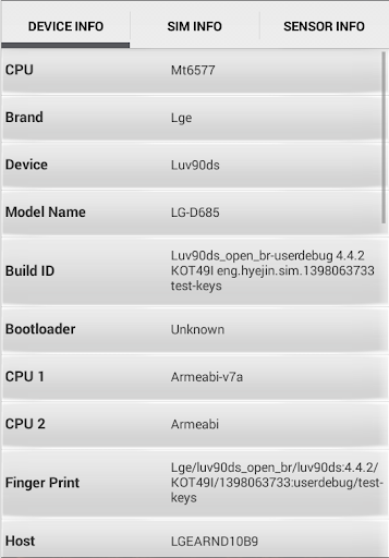 SIM Card Manager CPU IMEI