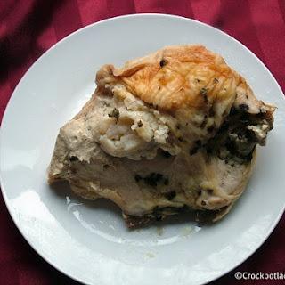 Crock-Pot Mashed Potato Stuffed Chicken Breasts.