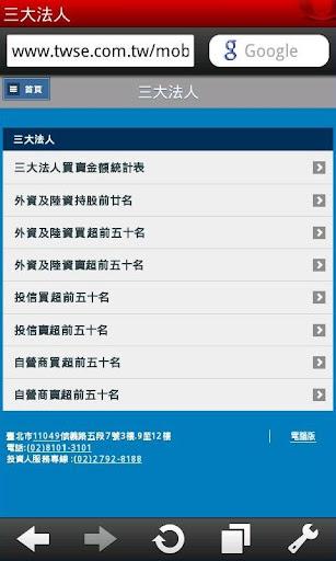 【免費財經App】三大法人資訊-APP點子