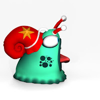 Lazy Christmas Santa Snail 2 Inch Tall