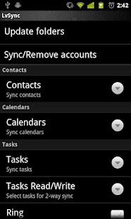 LVSync para Zimbra ~rw: miniatura de captura de pantalla