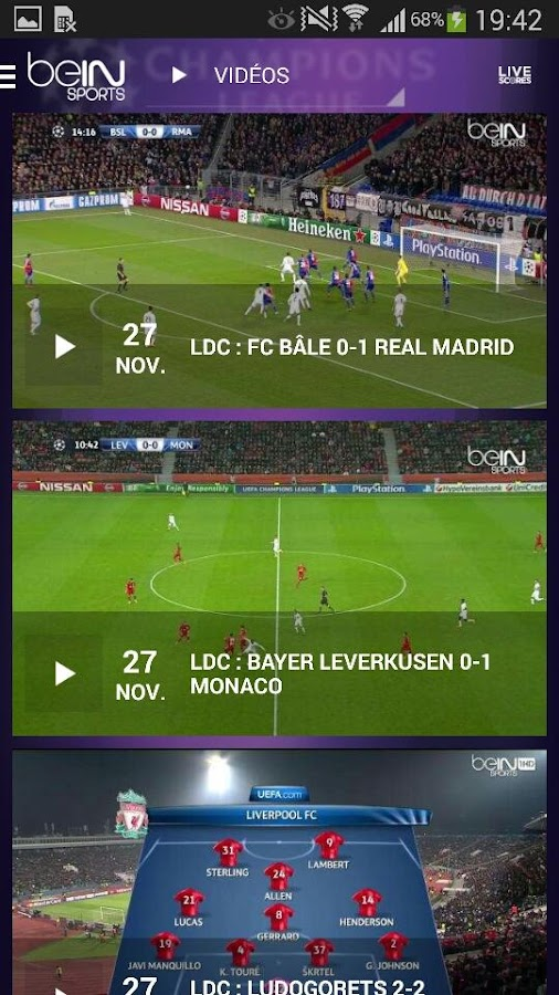 beIN SPORTS- screenshot