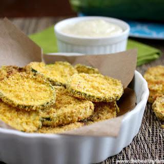 Vegan Oven Baked Zucchini Chips (Vegan, Gluten-Free, Grain-Free, Dairy-Free).