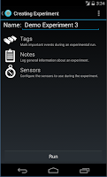 Screenshot of SenSee (Sensor Data Collector)
