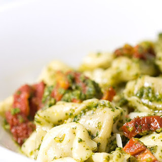 Cheese Tortellini with Pesto and Sun Dried Tomatoes