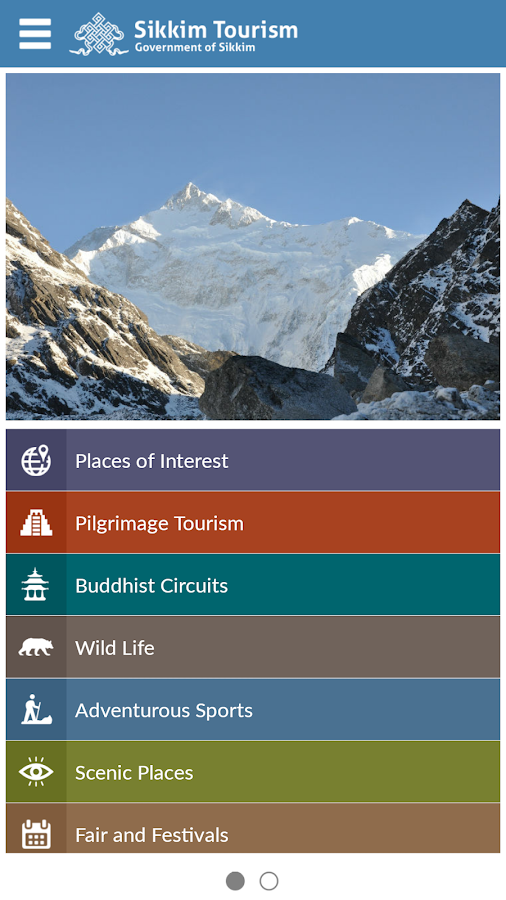 Sikkim Tourism Official- screenshot