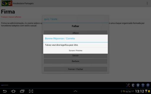 【免費教育App】Vocabulaire Portugais-APP點子