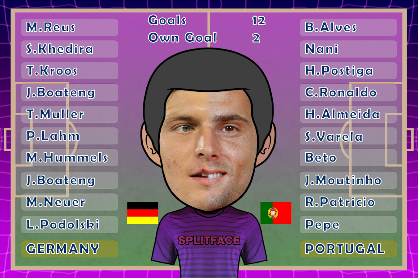 World Cup Splitface Football- screenshot