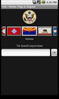 Screenshot of USA - States, Flags & Slogans