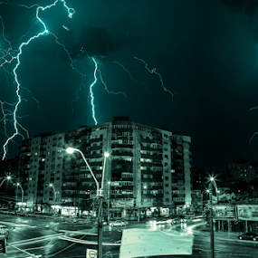 Thor by Andrei Grososiu - Landscapes Weather ( bucharest, lightning, weather, romania, storm )