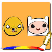 Finn and Jake Coloring