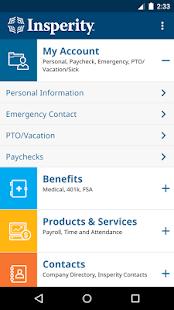 Insperity Mobile screenshot