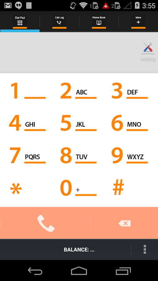 CSS Android VoIP Mobile Dialer- screenshot