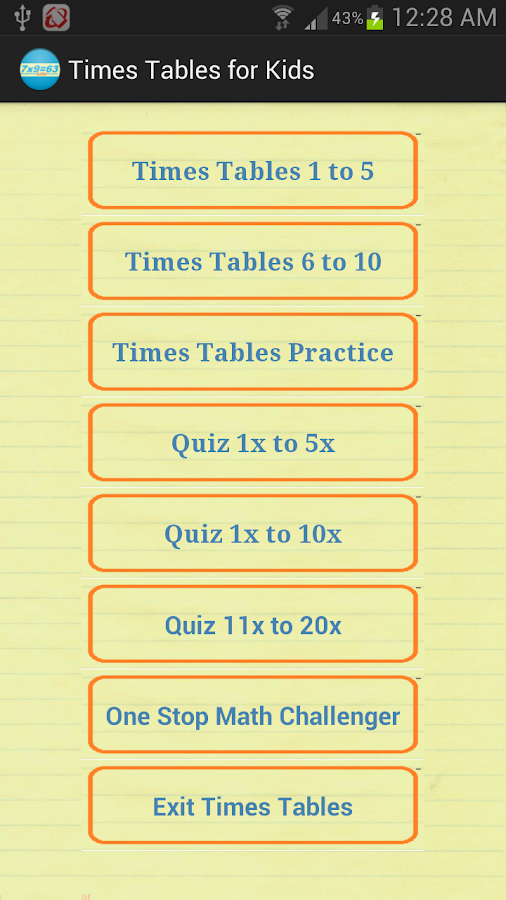 Times Tables Quiz 4 Kids - Android Apps on Google Play