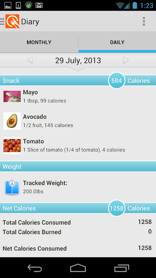 LIVESTRONG Calorie Tracker - screenshot