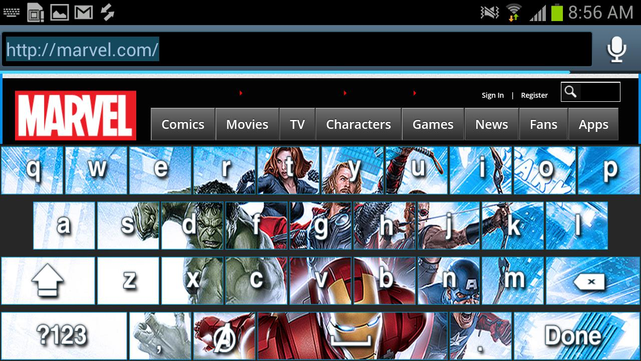 Avengers Keyboard Skins- screenshot