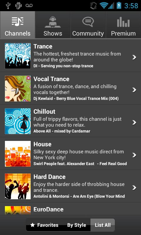 Digitally Imported Radio - screenshot