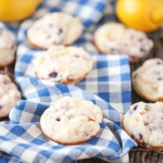 Blueberry Lemon Muffin Tops Low Calorie, Low Fat.