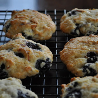 Blueberry Almond Cookies.