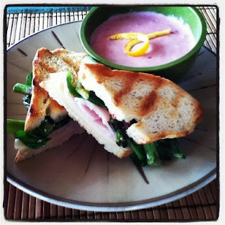 Grilled Asparagus and Prosciutto Panini.