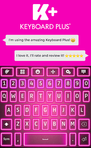 ネオンピンクのキーボード