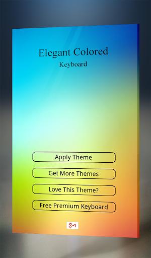 Elegant Colored Keyboard