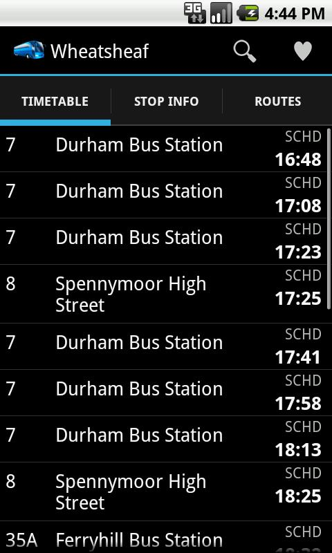 UK Bus Times- screenshot
