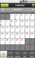 Screenshot of IAFF Foundation Pro-Calendar