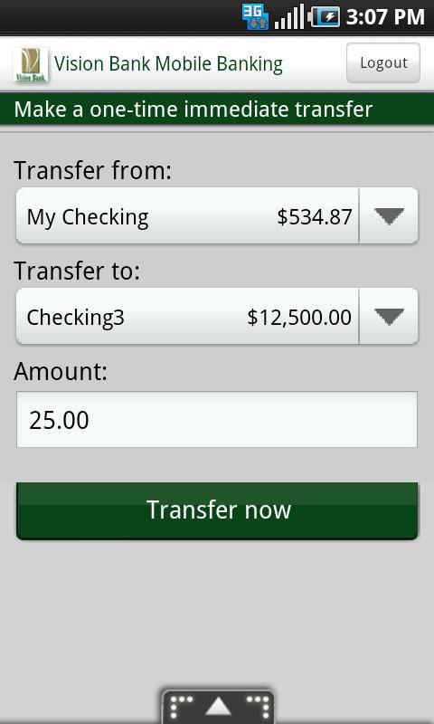 Vision Bank Mobile Banking - screenshot