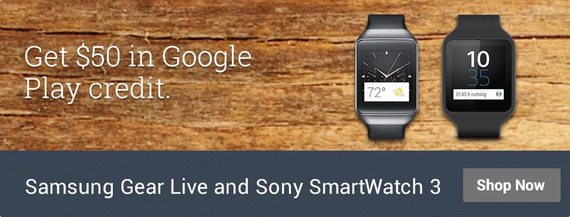 Samsung Gear Live and Sony SmartWatch 3