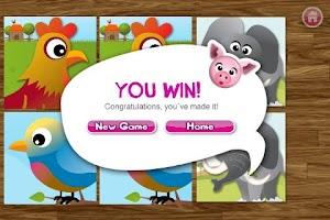 Screenshot of Animal matching for Kids FREE