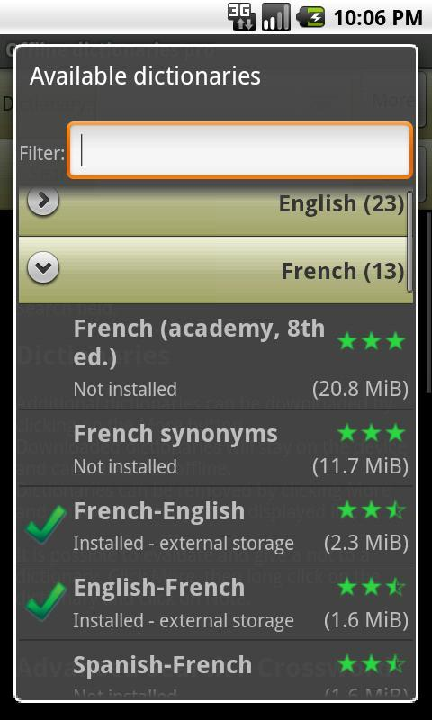 Offline dictionaries pro Screenshot 4