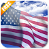 3D US Flag Live Wallpaper Free