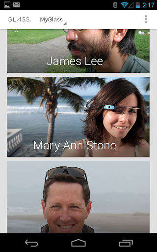 MyGlass lets you text message from Google Glass